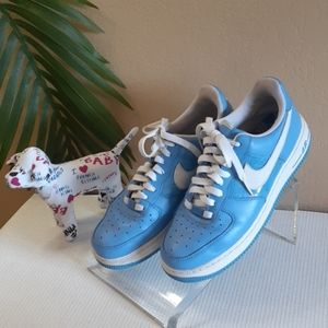 💜JUST IN💜82' Nike Air Force 1 blue white sneaker